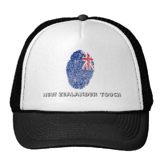 New Zealander touch fingerprint flag Trucker Hat
