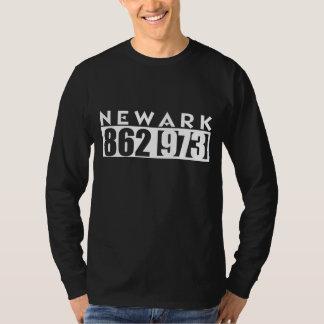 NEWARK 862 & 973 area CODE graphic TEE