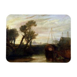Newark Abbey, 1807 (oil on canvas) Rectangular Magnet