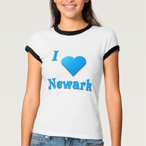 Newark -- Azul de cielo Playeras