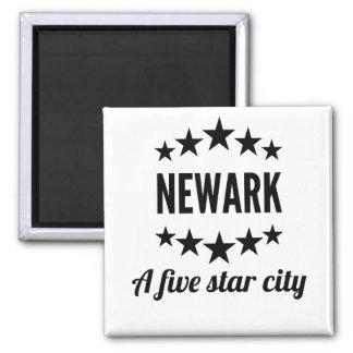 Newark cinco Star City Imán Cuadrado