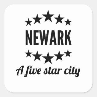 Newark cinco Star City Pegatina Cuadrada
