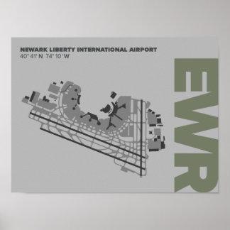 Newark Liberty Airport (EWR) Diagram Poster