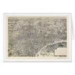 Newark, mapa panorámico de NJ - 1895 Tarjeta De Felicitación