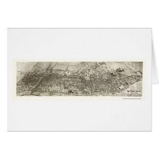 Newark, mapa panorámico de NJ - 1907 Tarjeta