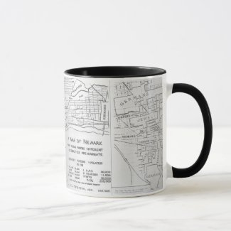Newark New Jersey 1911 Ethnic Neighborhood Map Mug