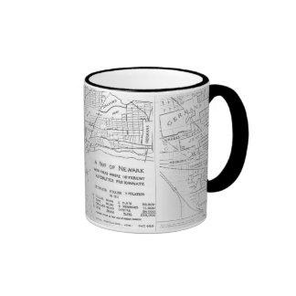 Newark New Jersey 1911 Ethnic Neighborhood Map Ringer Mug