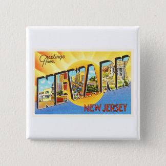 Newark New Jersey NJ Vintage Travel Postcard- Button