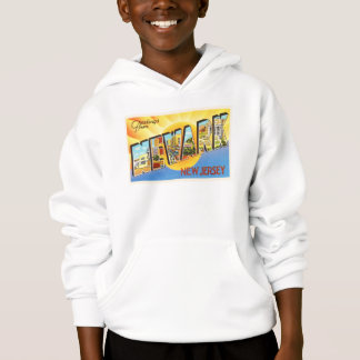 Newark New Jersey NJ Vintage Travel Postcard- Hoodie