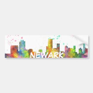NEWARK, NEW JERSEY SKYLINE BUMPER STICKER