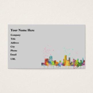 NEWARK, NEW JERSEY SKYLINE BUSINESS CARD