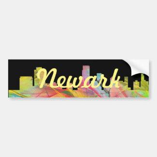 NEWARK, NEW JERSEY SKYLINE WB1 - BUMPER STICKER