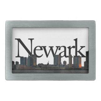 Newark New Jersey Skyline with Newark in the Sky Belt Buckle