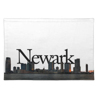 Newark New Jersey Skyline with Newark in the Sky Cloth Placemat