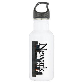 Newark New Jersey Skyline with Newark in the Sky Water Bottle