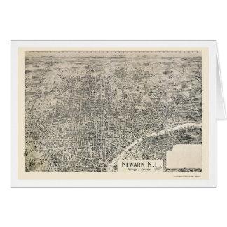 Newark NJ Panoramic Map - 1895 Greeting Card