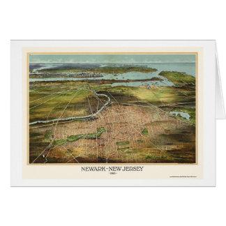 Newark NJ Panoramic Map - 1916 Cards