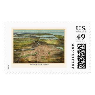 Newark NJ Panoramic Map - 1916 Postage Stamps