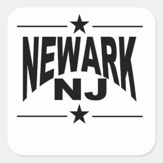 Newark NJ Pegatina Cuadrada