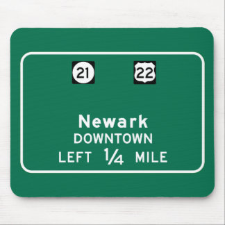 Newark, NJ Road Sign Mouse Pad