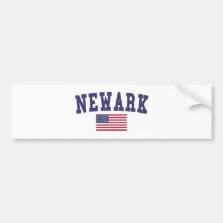 Newark NJ US Flag Bumper Sticker