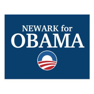 NEWARK para el personalizado de Obama su ciudad pe Postales