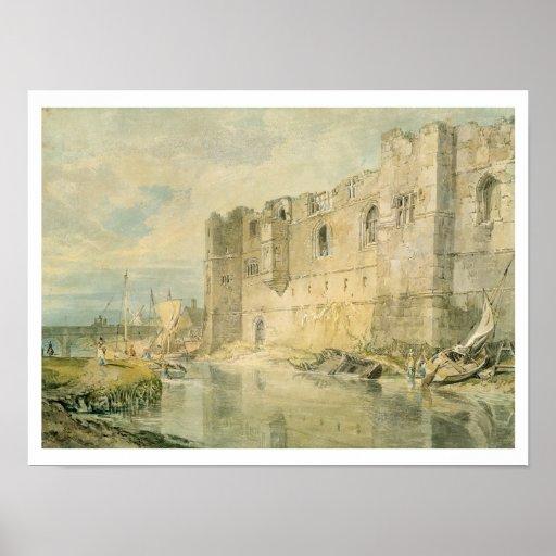 Newark-sobre-Trent, c.1796 (w/c sobre el grafito e Póster