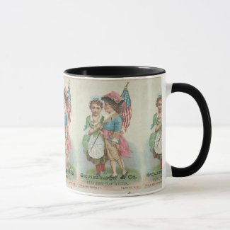 Newark Vintage 19th Century Patriotic Mug