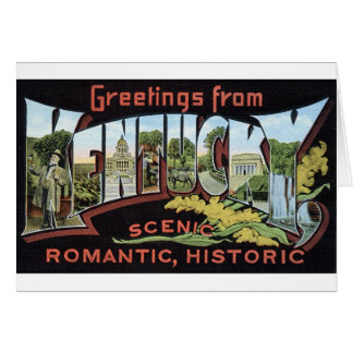 newartsweb - Greetings from Kentucky Cards