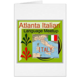 NewAtlanta Italian Language Meetup Greeting Cards