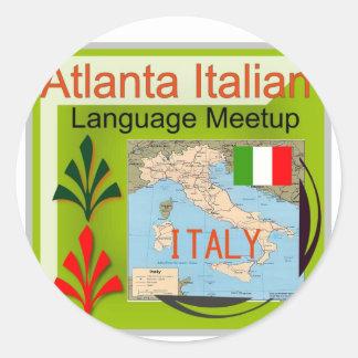 NewAtlanta Italian Language Meetup Classic Round Sticker