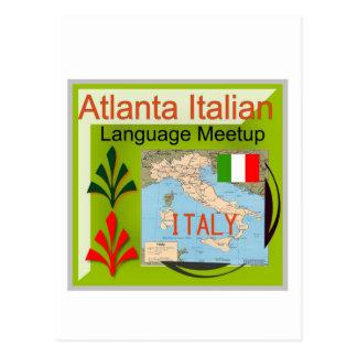 NewAtlanta Italian Language Meetup Postcards