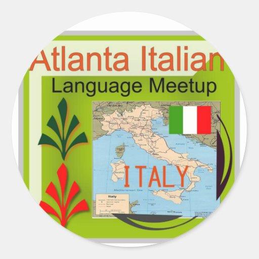 NewAtlanta Meetup de lengua italiana Pegatina Redonda
