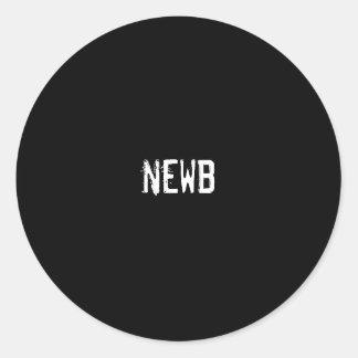 newb etiqueta redonda
