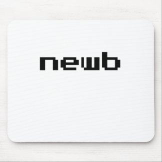 Newb Video Game Font Mouse Pad