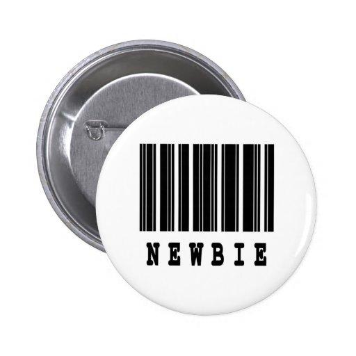 newbie barcode design pinback buttons