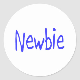 Newbie (Blue) Classic Round Sticker