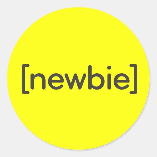 Newbie Classic Round Sticker