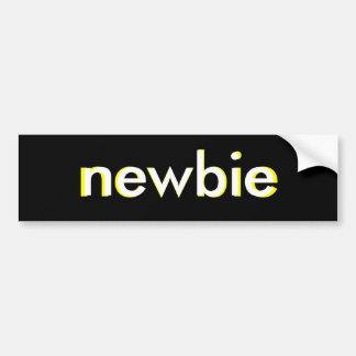 Newbie Night Time Sticker Car Bumper Sticker