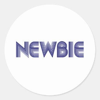 Newbie Etiqueta Redonda