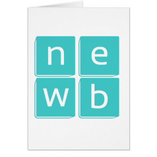 Newbies - stand up and be counted greeting card
