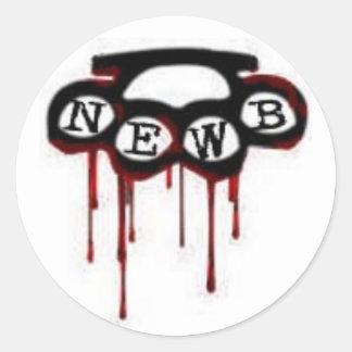 newbknucks etiquetas redondas
