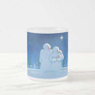 Newborn 10 Oz Frosted Glass Coffee Mug