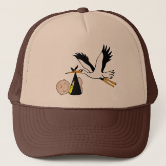 Newborn and Stork Trucker Hat