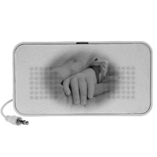 Newborn Baby and Parent Holding Hands Portable Speaker