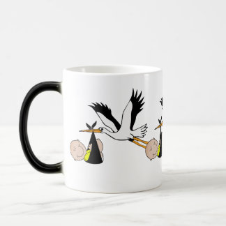 Newborn Baby and Stork Magic Mug