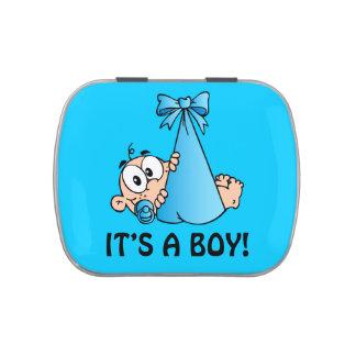 Newborn Baby Blue Candy Tins