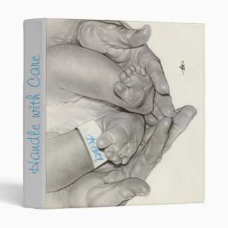 Newborn baby feet hands Binder