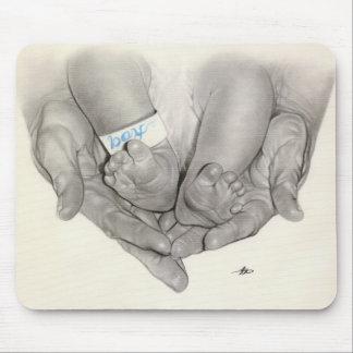 Newborn baby feet hands Mousepad