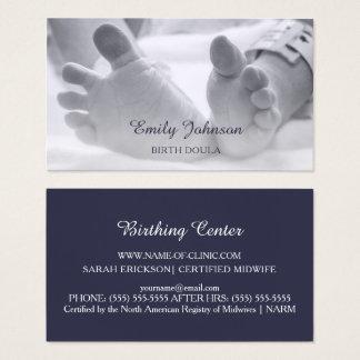 Newborn Baby Feet Hospital Band Birthing Doula Business Card